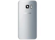 Capac Baterie - Geam Bltiz - Geam Camera Spate Argintiu Samsung Galaxy S7 edge G935