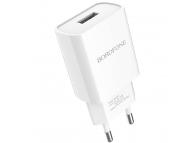 Incarcator Retea USB Borofone BA20A, 2.1A, 1 X USB, Alb, Blister