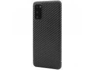 Husa Fibra Carbon Nevox pentru Samsung Galaxy S20 G980 / Samsung Galaxy S20 5G G981, Magnet Series, Neagra