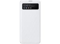 Husa Samsung Galaxy A41, S View Wallet, Alba EF-EA415PWEGEU