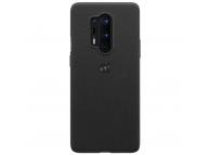 Husa Plastic OnePlus 8 Pro, Sandstone, Neagra, Blister 5431100144