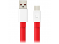 Cablu Date si Incarcare USB la USB Type-C OnePlus Warp Charge, 1 m, Rosu, Blister 5461100011