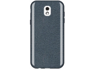 Husa TPU WZK Glitter Shine pentru Samsung Galaxy J5 (2017) J530, Neagra, Blister
