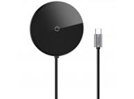 Hub USB Type-C Baseus Circular Mirror UCN3250-1, 1x USB 3.0 + 3 x USB 2.0 + 1 x USB Type-C (PD) + Fast Wireless Charge + HDMI, Gri, Blister GrWXJMY-A0G