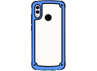 Husa Plastic - TPU OEM Solid Frame pentru Samsung Galaxy A50 A505 / Samsung Galaxy A30 A305, Albastra Transparenta, Bulk