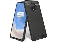 Husa TPU OEM Carbon pentru OnePlus 7T, Neagra, Bulk