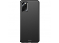 Husa Plastic Baseus Wing pentru Samsung Galaxy S20 Plus G985, Slim, Neagra, Blister WISAS20P-A01