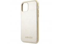 Husa Plastic - TPU Guess Iridescent pentru Apple iPhone 11 Pro Max, Aurie, Blister GUHCN65IGLGO