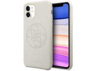 Husa TPU Guess pentru Apple iPhone 11, 4G Silicone Tone, Alba, Blister GUHCN61LS4GLG