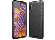 Husa TPU Tech-Protect Carbon pentru Samsung Galaxy Xcover Pro G715, Neagra, Blister