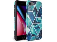 Husa TPU Tech-Protect Marble pentru Apple iPhone 7 / Apple iPhone 8 / Apple iPhone SE (2020), Albastra, Blister