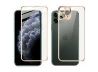 Folie Protectie Fata si Spate Imak pentru Apple iPhone 11 Pro, Plastic, Full Cover, Full Glue, Aurie, Blister