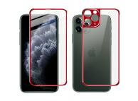 Folie Protectie Fata si Spate Imak pentru Apple iPhone 11 Pro, Plastic, Full Cover, Full Glue, Rosie
