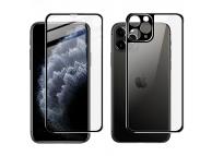 Folie Protectie Fata si Spate Imak pentru Apple iPhone 11 Pro Max, Plastic, Full Cover, Full Glue, Neagra, Blister
