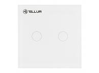 Intrerupator Tellur Smart Switch, WiFi, 2 Porturi, Control Tactil, 1800W, 10A, Alb, Blister TLL331051
