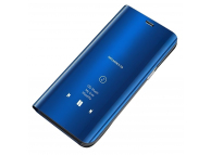 Husa Plastic OEM Clear View pentru Samsung Galaxy A71, Albastra, Blister