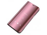 Husa Plastic OEM Clear View pentru Samsung Galaxy A71, Roz, Blister