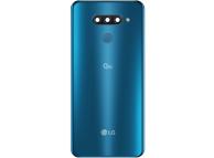 Capac Baterie - Geam Camera Spate - Senzor Amprenta Albastru LG Q60