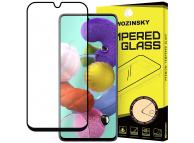 Folie Protectie Ecran WZK pentru Samsung Galaxy A51, Sticla securizata, Full Cover, Full Glue, Neagra, Blister