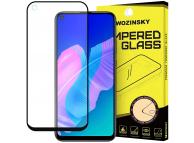 Folie Protectie Ecran WZK pentru Huawei P40 lite E, Sticla securizata, Full Face, Full Glue, Neagra