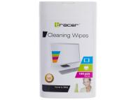 Set Servetele Curatare Antibacteriene TRACER pentru LCD (Set 100 bucati), Blister TRA00208