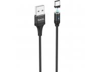 Cablu Incarcare USB la USB Type-C HOCO U76 Magnetic, 2.4A, 1.2 m, Negru, Blister