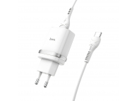Incarcator Retea cu cablu USB Tip-C HOCO C12Q, QC3.0, 1 X USB, Alb, Blister