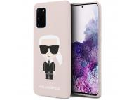 Husa TPU Karl Lagerfeld Ikonik Full Body pentru Samsung Galaxy S20 Plus G985, Roz, Blister KLHCS67SLFKPI