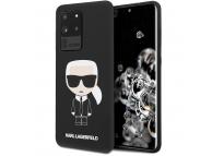 Husa TPU Karl Lagerfeld Ikonik Full Body pentru Samsung Galaxy S20 Ultra G988 / Samsung Galaxy S20 Ultra 5G G988, Neagra, Blister KLHCS69SLFKBK