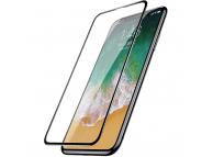 Folie Protectie Ecran Baseus pentru Apple iPhone XS / Apple iPhone 11 Pro, Plastic, Full Face, Full Glue, PET Soft 3D, 0,23 mm, Neagra, Blister SGAPIPHX-KA01