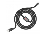 Cablu Date si Incarcare USB la Lightning HOCO SELECTED Timing S4, 1.2 m, Rosu, Blister