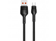 Cablu Date si Incarcare USB la MicroUSB XO Design NB55, 5A, 1 m, Negru, Blister