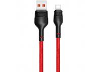 Cablu Date si Incarcare USB la USB Type-C XO Design NB55, 5A, 1 m, Rosu, Blister