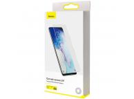 Folie Protectie Ecran Baseus pentru Samsung Galaxy S20 G980 / Samsung Galaxy S20 5G G981, Sticla securizata, Full Face, Set 2buc, 3D, 0.25mm, UV SGSAS20-UV02