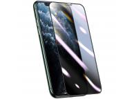 Folie Protectie Ecran Baseus pentru Apple iPhone X / Apple iPhone XS / Apple iPhone 11 Pro, Plastic, Full Face, Privacy, 3D, 2.5mm, Neagra, Blister SGAPIPH58S-HC01