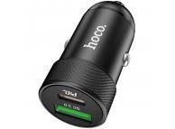 Incarcator Auto USB HOCO Z32B Speed Up PD+QC3.0, 27W, 2 X USB, Negru, Blister