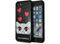 Husa Plastic Karl Lagerfeld Valentine pentru Apple iPhone 7 / Apple iPhone 8 / Apple iPhone SE (2020), Neagra, Blister KLHCP7VDCBK