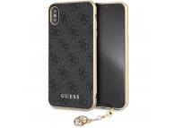 Husa TPU Guess 4G Charms Collection pentru Apple iPhone XS Max, Gri, Blister GUHCI65GF4GGR