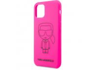 Husa TPU Karl Lagerfeld pentru Apple iPhone 11, Roz, Blister KLHCN61SILFLPI