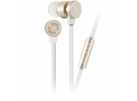Handsfree Casti In-Ear Guess, Cu microfon, 3.5 mm, Alb Auriu, Blister GUEPWIGO