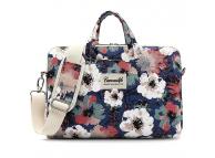 Geanta textil pentru Laptop CANVASLIFE Camellia, 15 - 16 inci, Albastra Multicolor