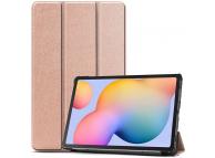 Husa Tableta TPU Tech-Protect SmartCase pentru Samsung Galaxy Tab S6 Lite, Roz Aurie, Bulk