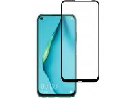 Folie Protectie Ecran OEM pentru Huawei P40 lite, Sticla securizata, Full Face, Full Glue, 5D, Neagra