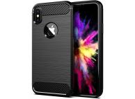 Husa TPU Forcell Carbon pentru Apple iPhone XS, Neagra, Bulk