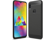 Husa TPU Forcell Carbon pentru Samsung Galaxy A20 A205 / Samsung Galaxy A30 A305, Neagra, Bulk