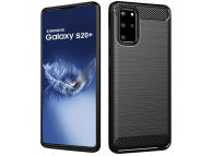 Husa TPU Forcell Carbon pentru Samsung Galaxy S20 Plus G985, Neagra, Bulk