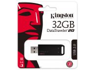 Memorie Externa Kingston DT20, 32Gb, USB 2.0, Neagra, Blister DT20/32GB