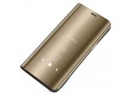 Husa Plastic OEM Clear View pentru Huawei P40 lite E, Aurie, Blister