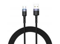 Cablu Date si Incarcare USB la USB Type-C Tellur LED, 2A, 2 m, Negru, Blister TLL155314