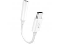 Adaptor audio USB Type-C la 3.5 mm Dudao L16CPro, Alb
